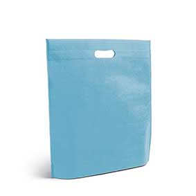 Nonwoven bag with cut out handles