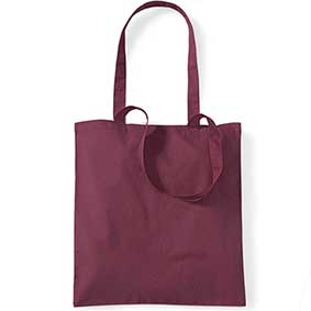 Cotton bag with long handles WM