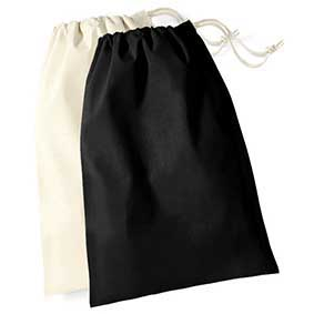 Westford Mill black and white small cotton sacks