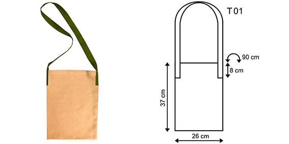 Sizes and designs of cotton promotional bags