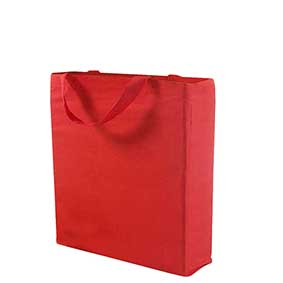 Cotton bag with wide sides