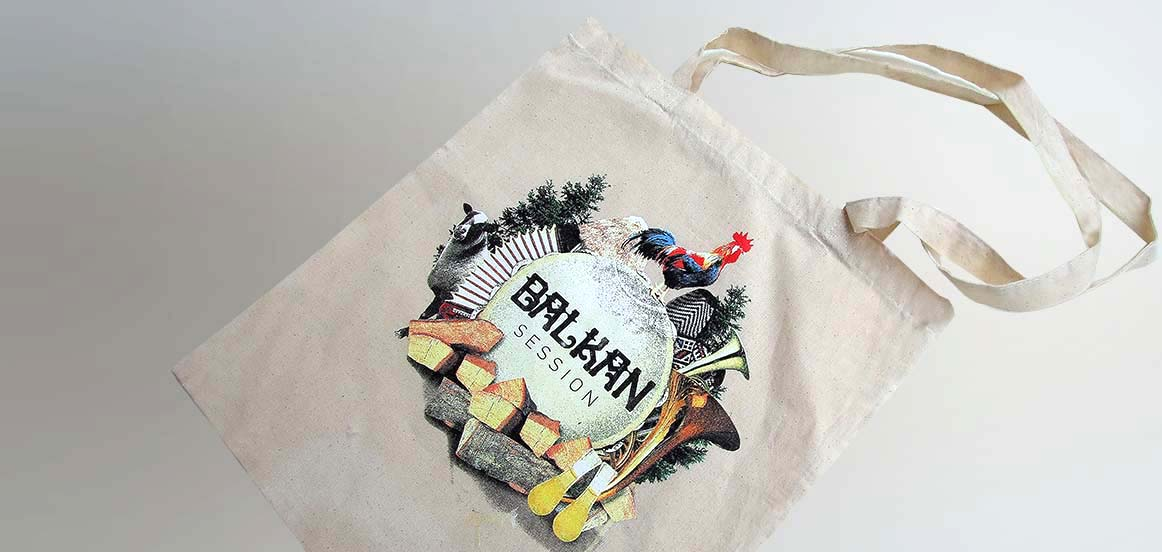 Screen printed cotton bags